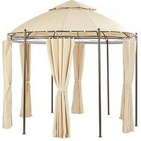 Product photograph showing 3m Round Steel Showerproof Gazebo With Sides