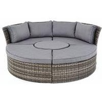 Product photograph showing Aruba Compact Round Sofa Set Amp Day Bed