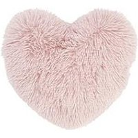 Product photograph showing Catherine Lansfield Cuddly Heart Cushion