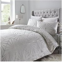Product photograph showing Luxe Zigzag Geo Jacquard Duvet Set - Sk