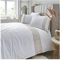 Product photograph showing Hotel Collection Greek Key 300 Thread Count Duvet Cover Set