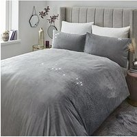 Product photograph showing Ombre Diamante Velvet Duvet Cover Set