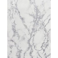 Product photograph showing Arthouse Carrara Marble Silver Wallpaper