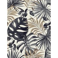 Product photograph showing Arthouse Jungle Wall Black Gold Wallpaper