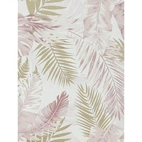 Product photograph showing Arthouse Soft Tropical Blush Gold Wallpaper