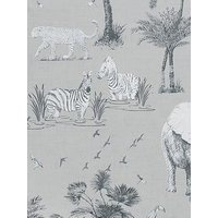 Product photograph showing Arthouse Safari Lagoon Grey Wallpaper