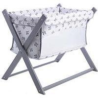 Product photograph showing Clair De Lune Rachel Riley Bunny Folding Breathable Crib