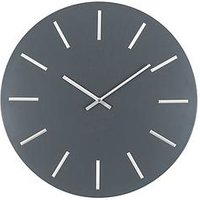 Product photograph showing Pacific Lifestyle Matt Grey And Silver Round Metal Wall Clock