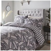 Product photograph showing Luxe Geo Duvet Cover Set