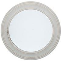 Product photograph showing Pacific Lifestyle Washed Grey Wood Round Wall Mirror