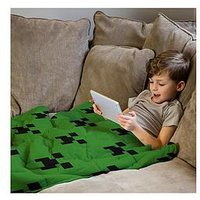 Product photograph showing Minecraft Rest Easy Sleep Better Weighted Blanket