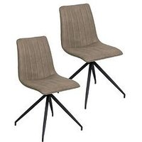 Product photograph showing Vida Living Caleb Pair Of Dining Chairs