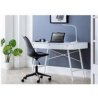 Product photograph showing Julian Bowen Trianon Desk - White