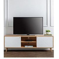Product photograph showing Julian Bowen Moritz Tv Unit - Oak