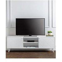 Product photograph showing Julian Bowen Moritz Tv Unit - White