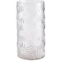 Product photograph showing Gisela Graham Daisy Glass Vase