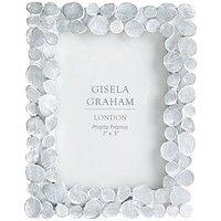 Product photograph showing Gisela Graham White Wash Resin Photo Frame 4x6
