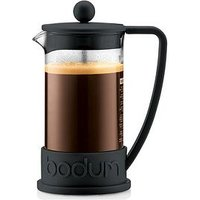 Product photograph showing Bodum Black Brazil French Press 8 Cup Coffee Maker 1 Litre