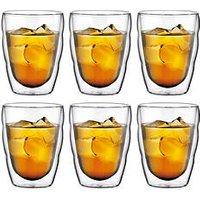 Product photograph showing Bodum Transparent Pilatus Double Wall Small Glasses 250ml