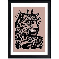 Product photograph showing East End Prints Live Brave Pink By Wonder And Rah A3 Framed Print