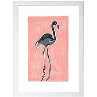 Product photograph showing East End Prints Black Flamingo By Sophie Ward A3 Framed Print