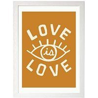 Product photograph showing East End Prints Love Is Love By Tree X Three A3 Framed Print