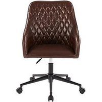 Product photograph showing Diamond Faux Leather Office Chair