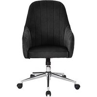 Product photograph showing Molby Fabric Office Chair - Black