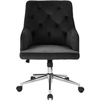 Product photograph showing Warwick Fabric Office Chair - Black