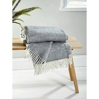Product photograph showing Cox Cox Soft Wool Throw - Grey