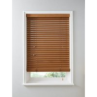 Product photograph showing Made To Measure 50mm Wooden Venetian Blinds - Tuscan Oak