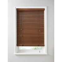 Product photograph showing Made To Measure 50mm Wooden Venetian Blinds - Auburn