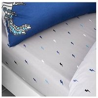 Product photograph showing Catherine Lansfield Catherine Lansfield Dinobot Fitted Sheet - Junior