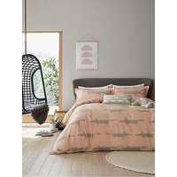 Product photograph showing Scion Mr Fox Duvet Set Blush