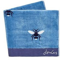 Product photograph showing Joules Botanical Bee Hand Towel Blue