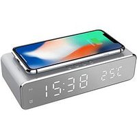 Product photograph showing Precision Precision Wireless Charging Led Alarm Clock
