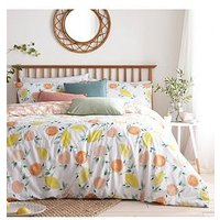 Product photograph showing Riva Home Pommie Duvet Cover Set - Yellow