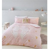 Product photograph showing Catherine Lansfield Catherine Lansfield Angel Glitter Duvet Set - Ks