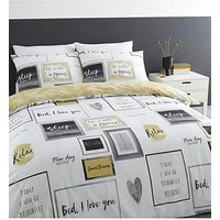 Product photograph showing Catherine Lansfield Sleep Dreams Duvet Cover Set - Ochre
