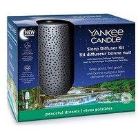 Product photograph showing Yankee Candle Yankee Candle Sleep Diffuser Starter Kit Silver