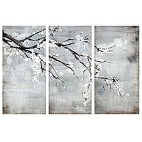 Product photograph showing Arthouse Blossom Willow Tree 3 Piece Canvas Wall Art