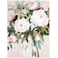 Product photograph showing Arthouse Floral Canvas Wall Art With Hand Painted Detail