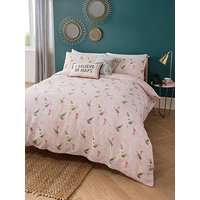 Product photograph showing Yvonne Ellen Yvonne Ellen Tropical Parrots Duvet Set - Sb