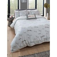 Product photograph showing Yvonne Ellen Mono Cheetah Duvet Set - Ks