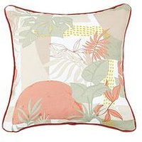 Product photograph showing Earth Tones Leaves Cushion