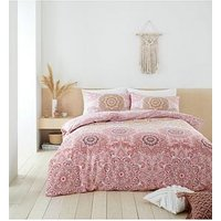 Product photograph showing Catherine Lansfield Pineapple Elephant Menara Duvet Set - Sb