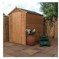 Product photograph showing Mercia 6x4 Premium Pressure Treated Shiplap Apex Shed