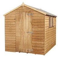 Product photograph showing Mercia 8 X 6ft Overlap Apex Shed