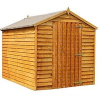 Product photograph showing Mercia 8 X 6ft Great Value Windowless Overlap Apex Shed