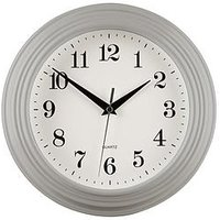 Product photograph showing Premier Housewares Classic Grey Wall Clock